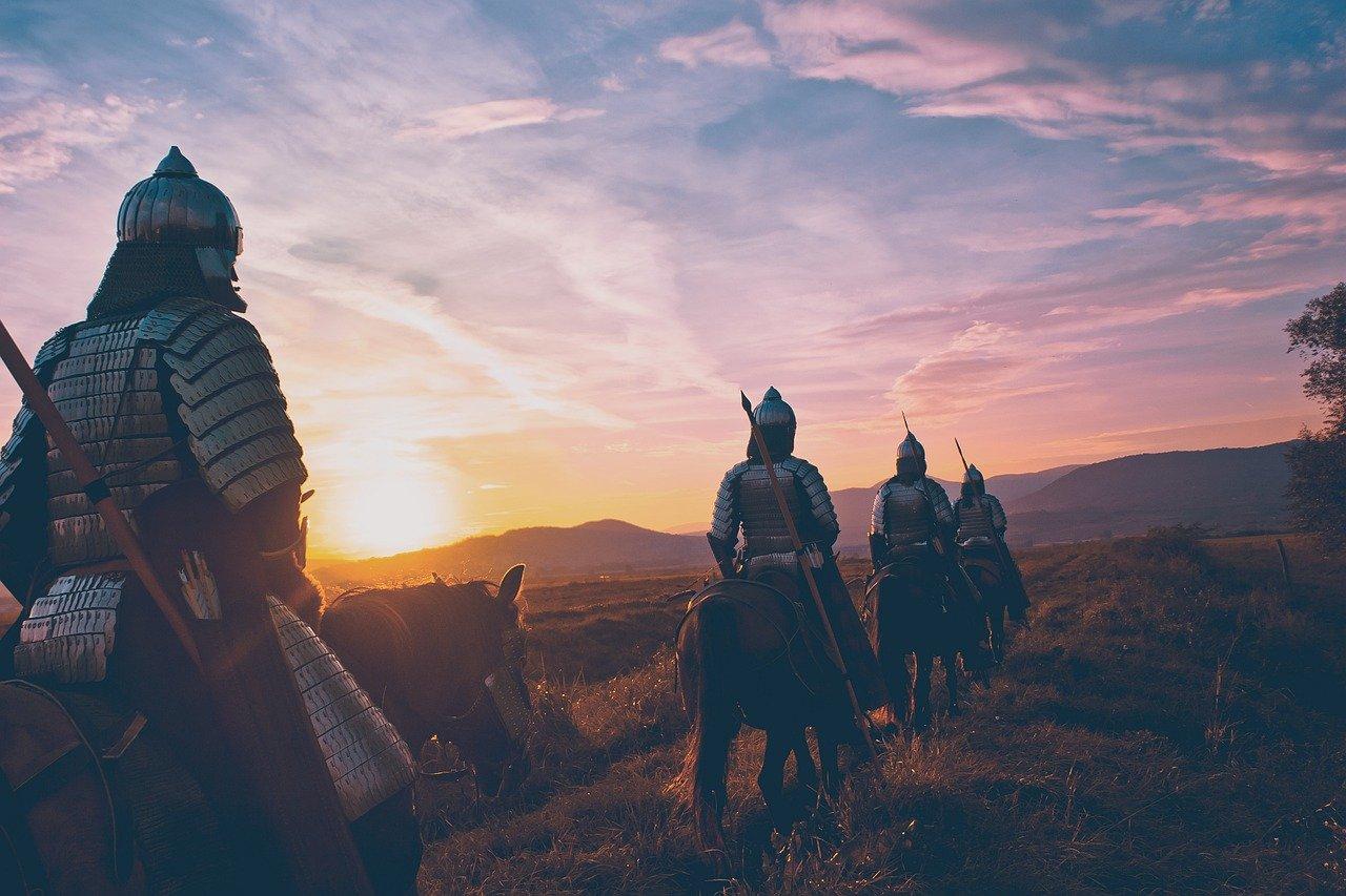 cheval, soldat, guerrier